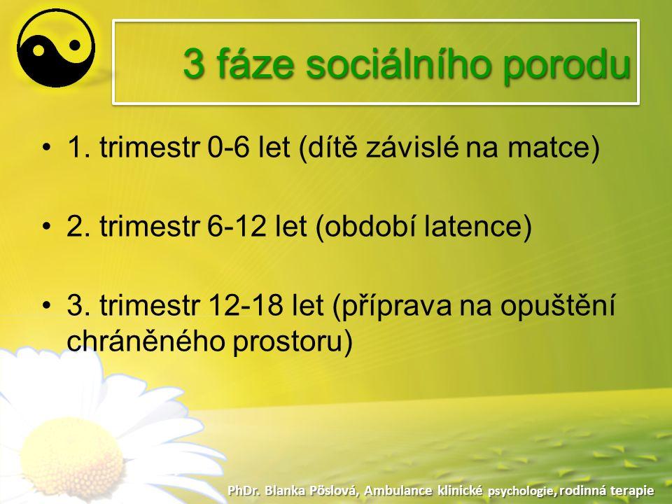 3 fáze sociálního porodu PhDr. Blanka Pöslová, Ambulance klinické psychologie, rodinná terapie 1.