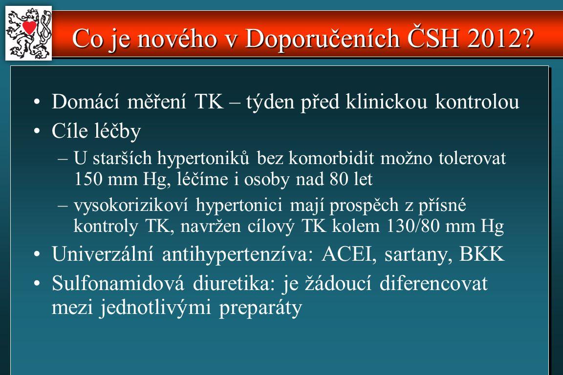 Co je nového v Doporučeních ČSH 2012.