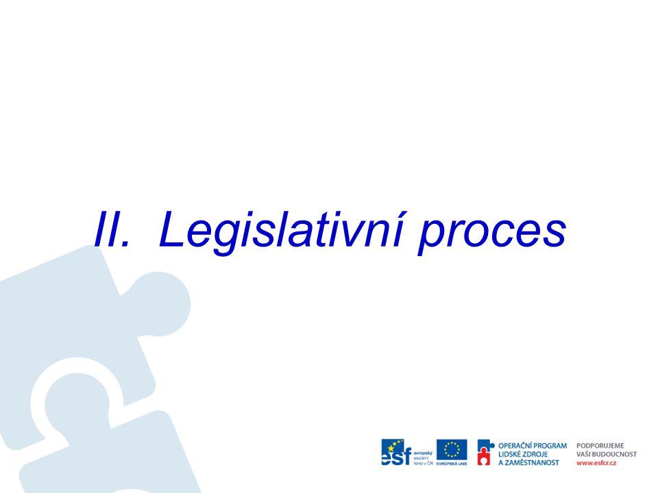 II.Legislativní proces