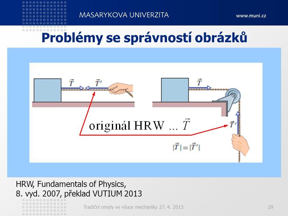 Problémy se správností obrázků Tradiční omyly ve výuce mechaniky 27. 4. 201529 HRW, Fundamentals of Physics, 8. vyd. 2007, překlad VUTIUM 2013