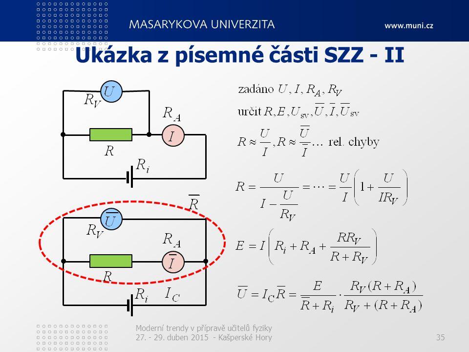 Ukázka z písemné části SZZ - II Moderní trendy v přípravě učitelů fyziky 27. - 29. duben 2015 - Kašperské Hory35