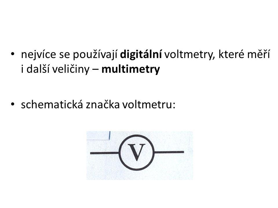 voltmetr připojujeme ke spotřebiči paralelně (vedle sebe)