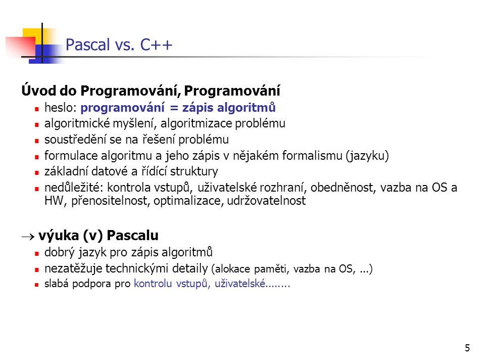 5 Pascal vs.