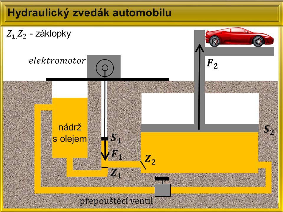 Hydraulický zvedák automobilu nádrž s olejem