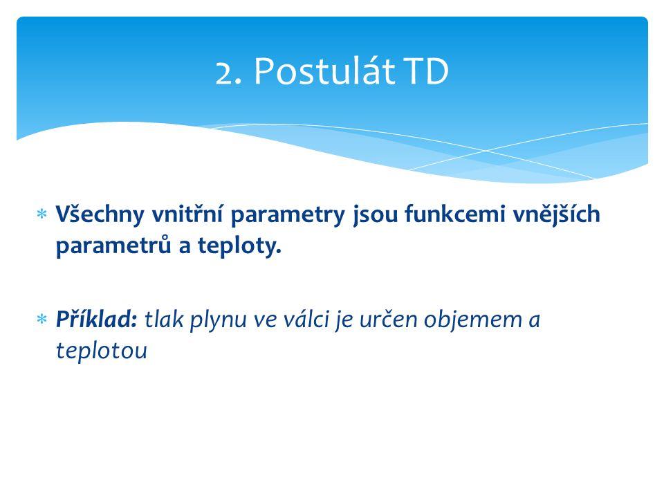 Soustava konající kruhový děj: dU=0  dQ = dU + dW  dQ=0+dW  dQ = dW 1. ( Hlavní ) věta TD
