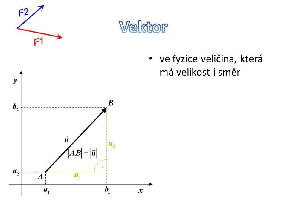 ve fyzice veličina, která má velikost i směr