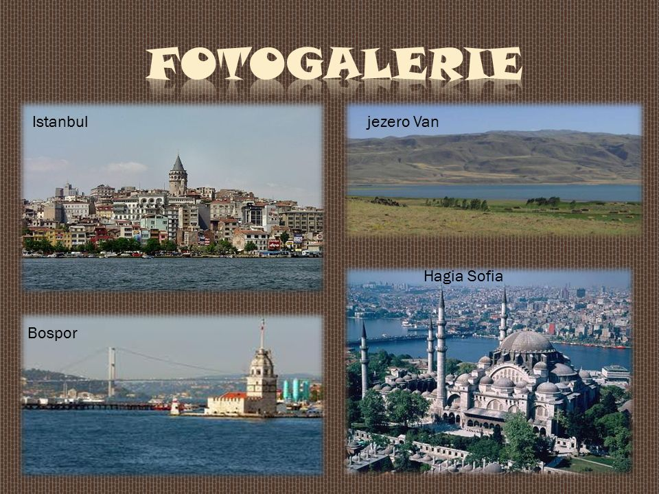 Istanbul Bospor jezero Van Hagia Sofia