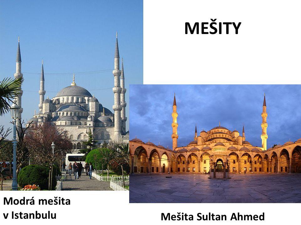 MEŠITY Mešita Sultan Ahmed Modrá mešita v Istanbulu
