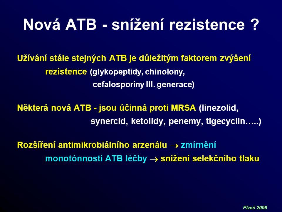 Plzeň 2008 Nová ATB - snížení rezistence .