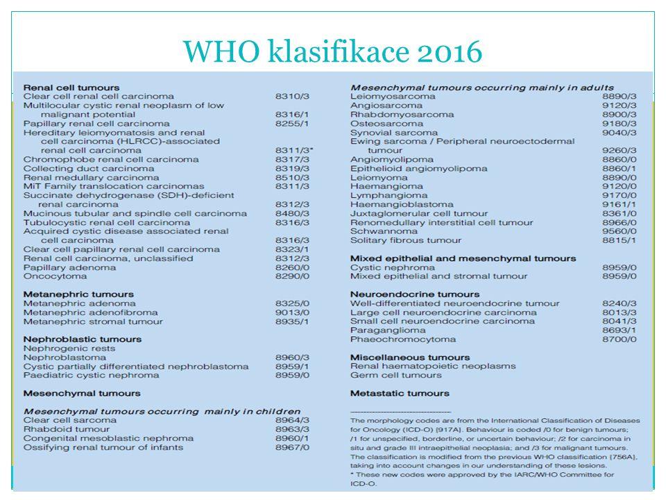 WHO klasifikace 2016