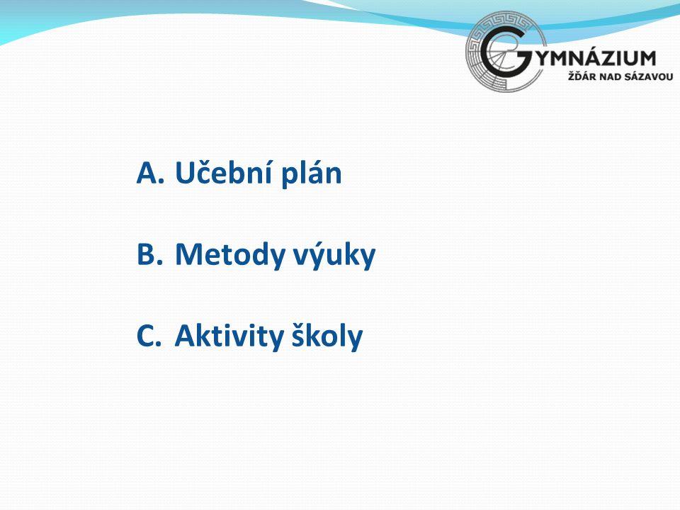 A.Učební plán B.Metody výuky C.Aktivity školy