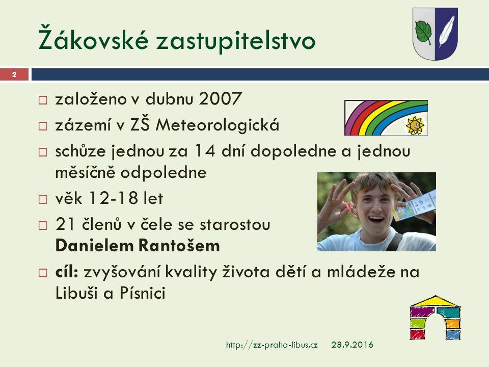 Ze schůzí… 28.9.2016 33  setkání se Studentským zastupitelstvem Prahy 7