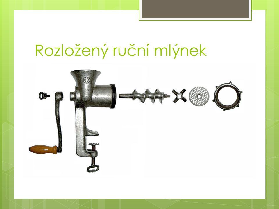 Rozložený ruční mlýnek