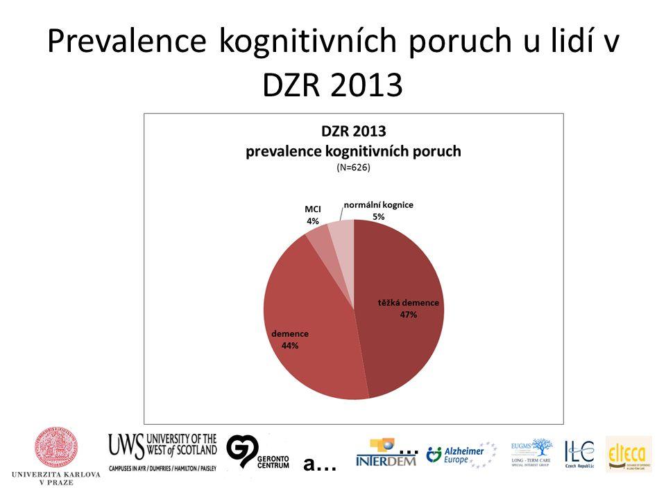 Prevalence kognitivních poruch u lidí v DZR 2013 … a…