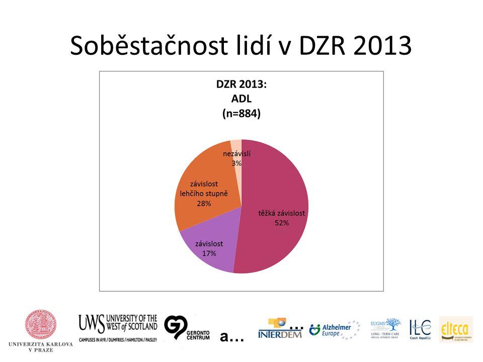 Soběstačnost lidí v DZR 2013 … a…