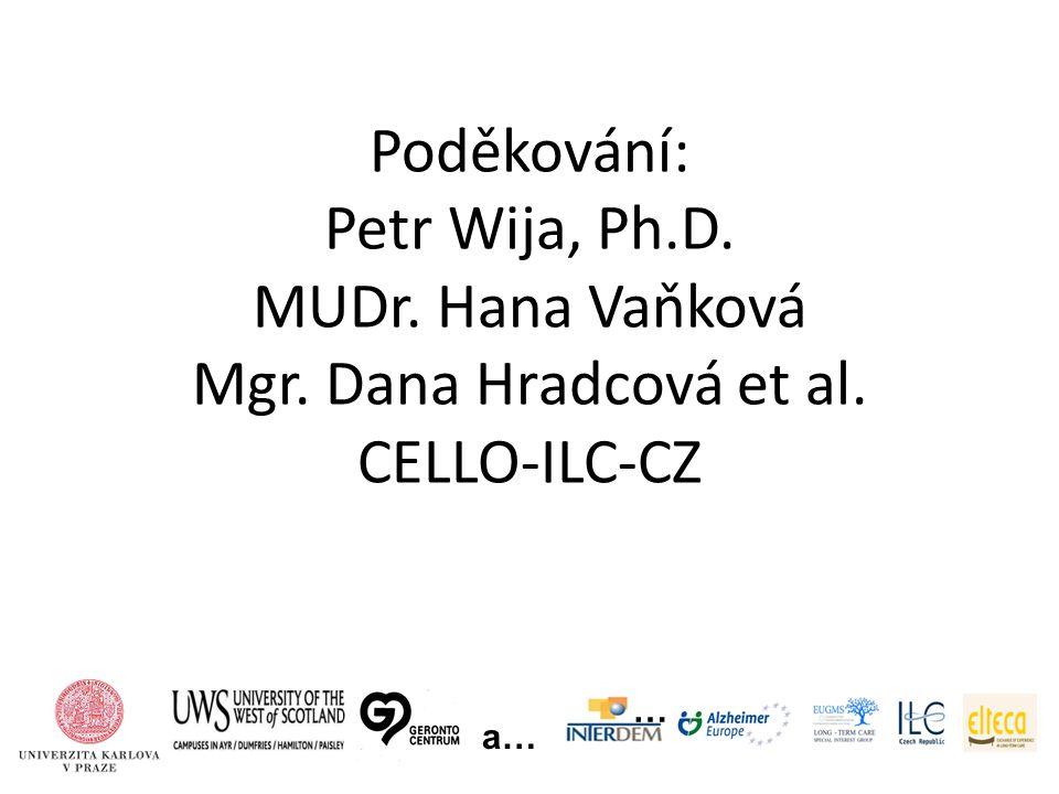 Poděkování: Petr Wija, Ph.D. MUDr. Hana Vaňková Mgr. Dana Hradcová et al. CELLO-ILC-CZ … a…