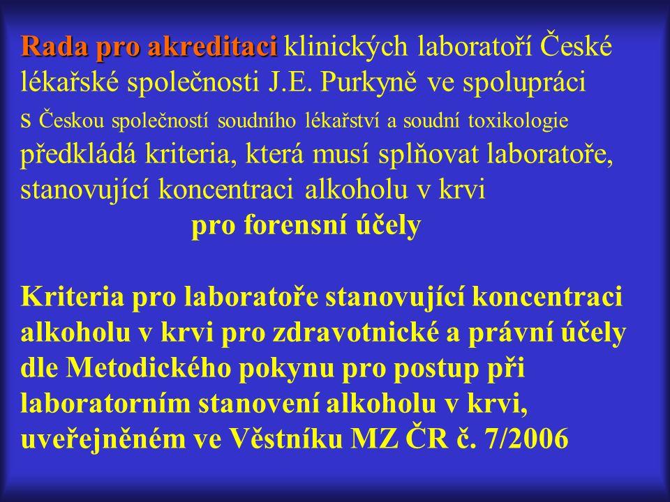 Rada pro akreditaci Rada pro akreditaci klinických laboratoří České lékařské společnosti J.E.