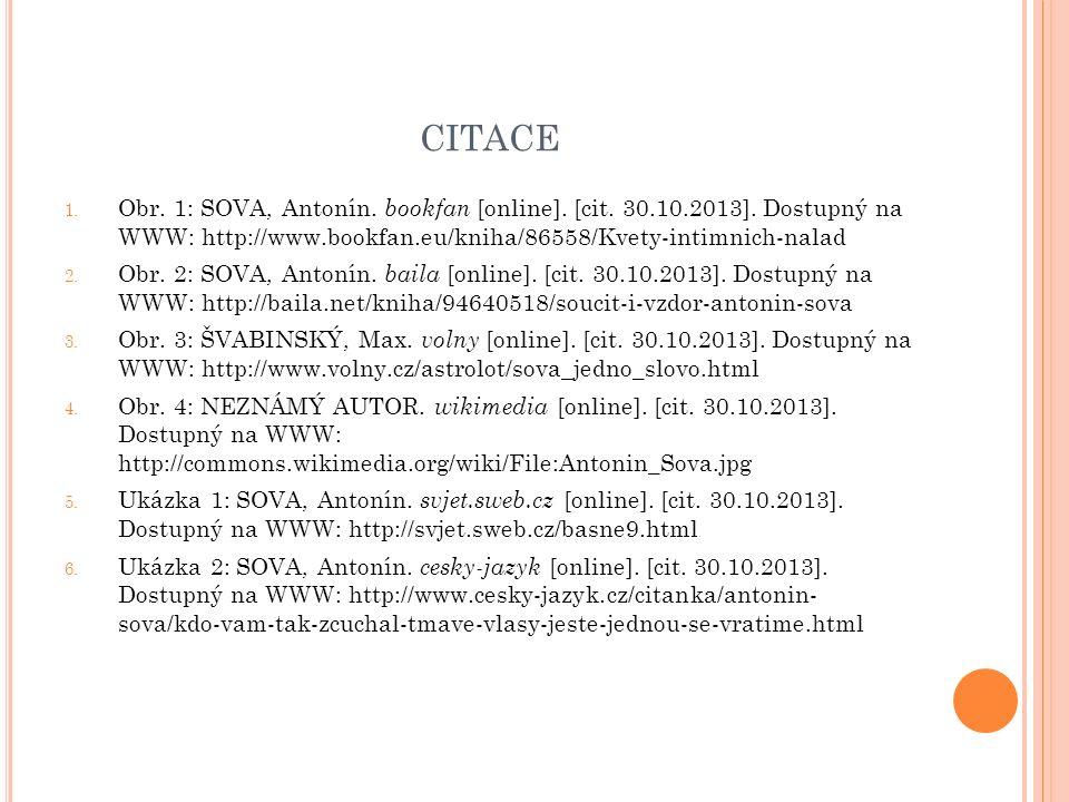 CITACE 1. Obr. 1: SOVA, Antonín. bookfan [online].