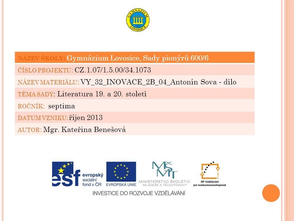 CITACE 1.Obr. 1: SOVA, Antonín. bookfan [online].