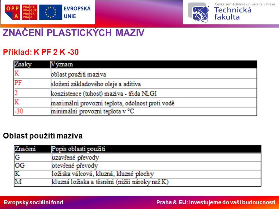Evropský sociální fond Praha & EU: Investujeme do vaší budoucnosti Složení základového oleje a aditiva