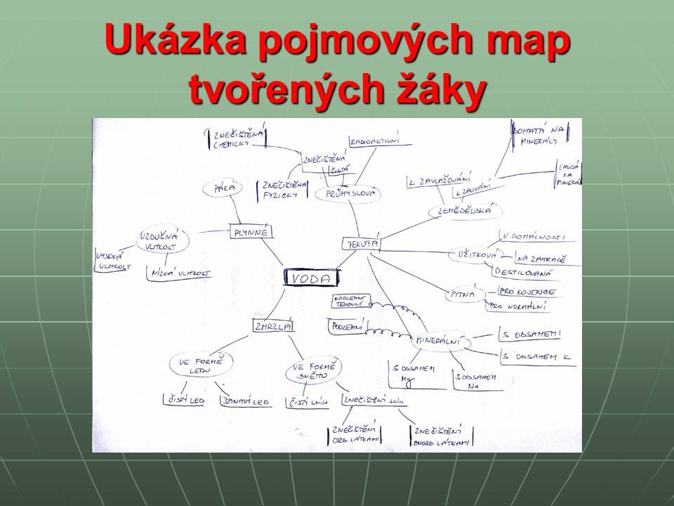 Ukázka pojmových map tvořených žáky