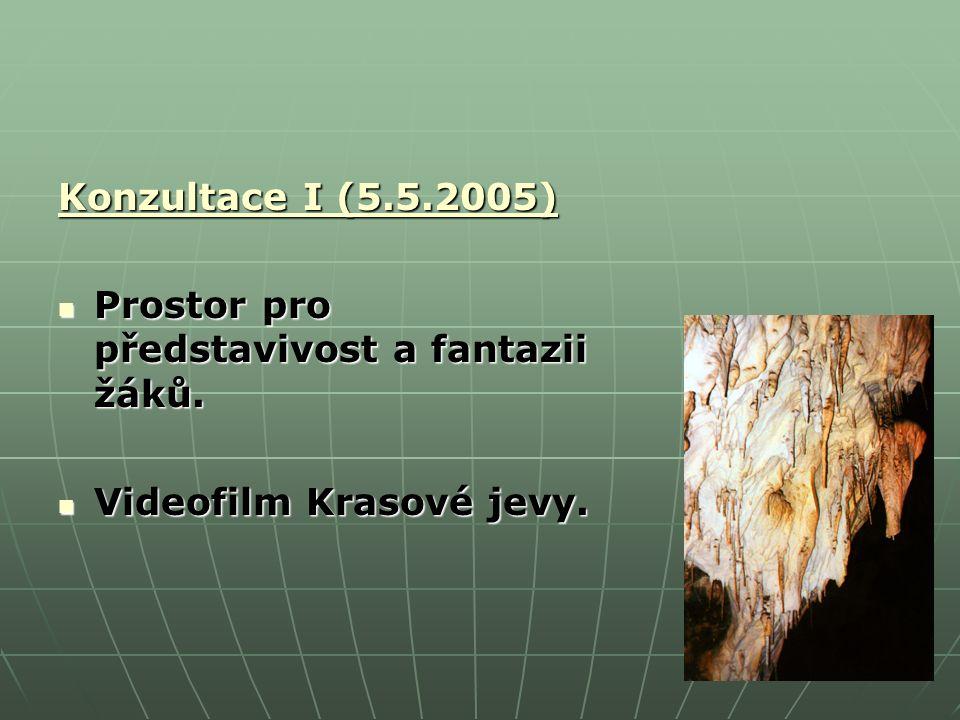 Konzultace I (5.5.2005) Prostor pro představivost a fantazii žáků.