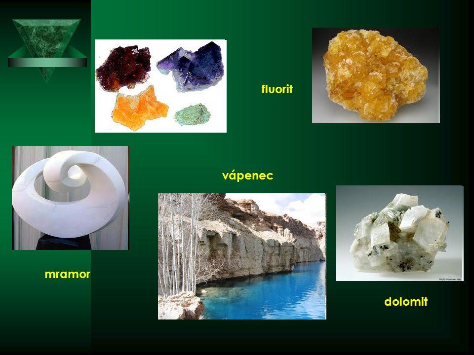 fluorit dolomit vápenec mramor