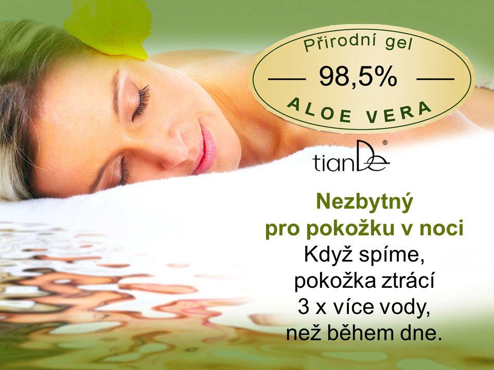 Nezbytný pro pokožku v noci Když spíme, pokožka ztrácí 3 x více vody, než během dne.