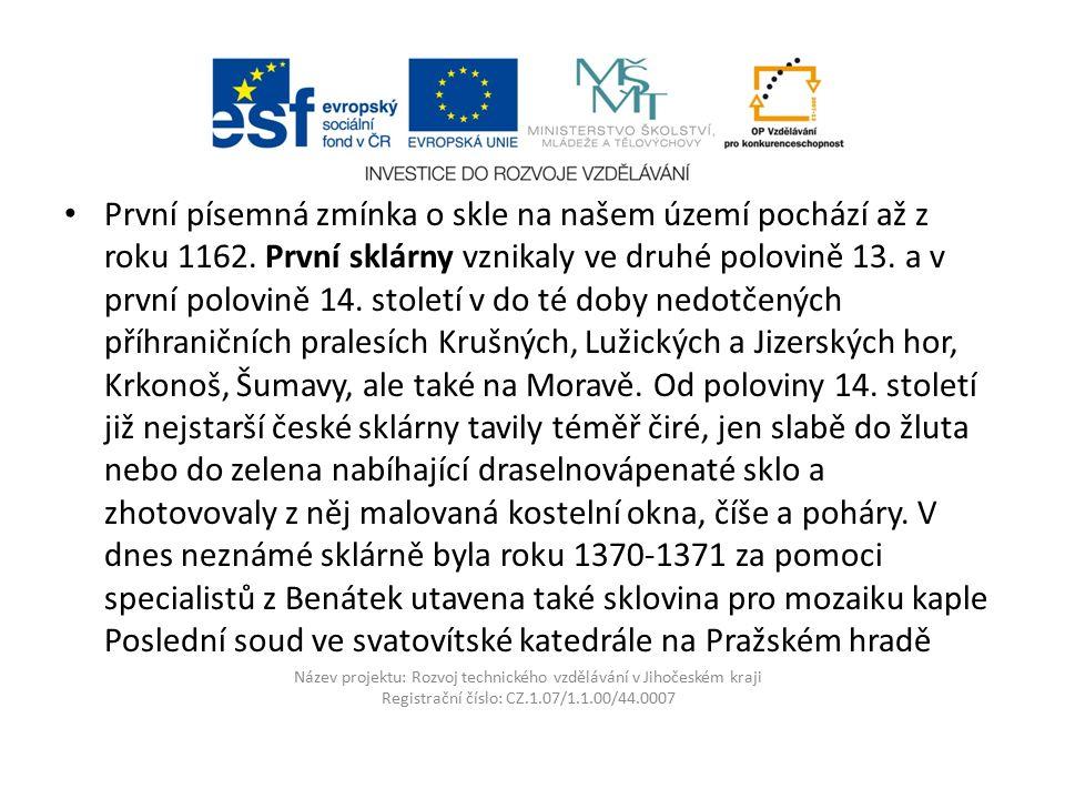 Název projektu: Rozvoj technického vzdělávání v Jihočeském kraji Registrační číslo: CZ.1.07/1.1.00/44.0007 Paní Vladimíra Tesařová