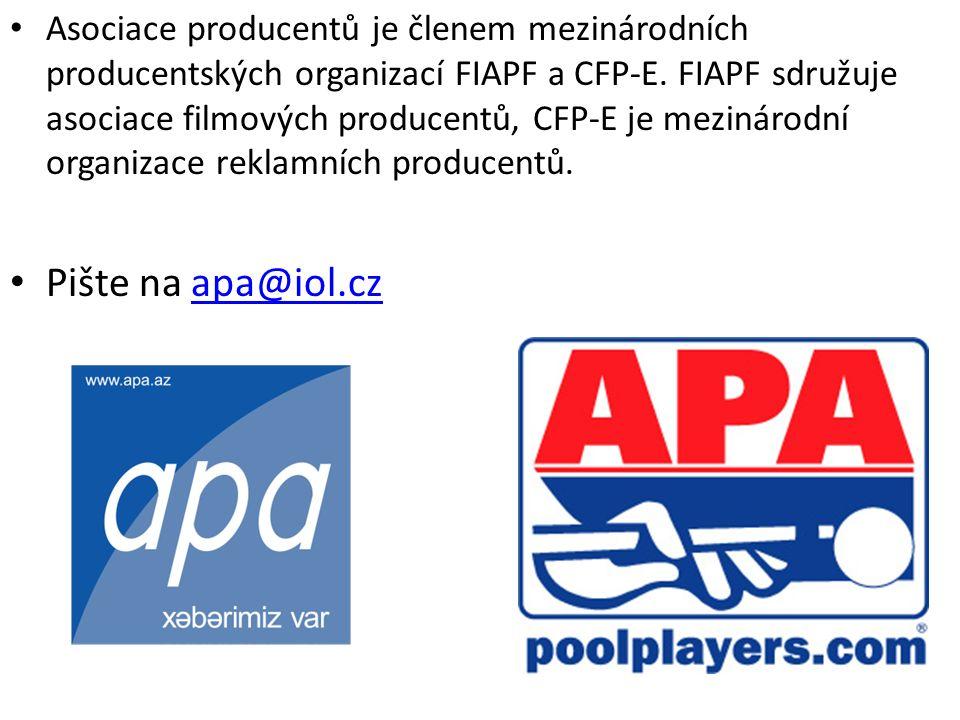 Asociace producentů je členem mezinárodních producentských organizací FIAPF a CFP-E.