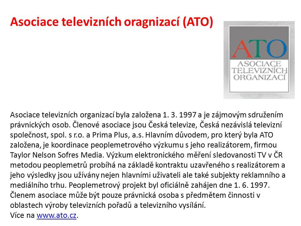 Asociace televizních oragnizací (ATO) Asociace televizních organizací byla založena 1.