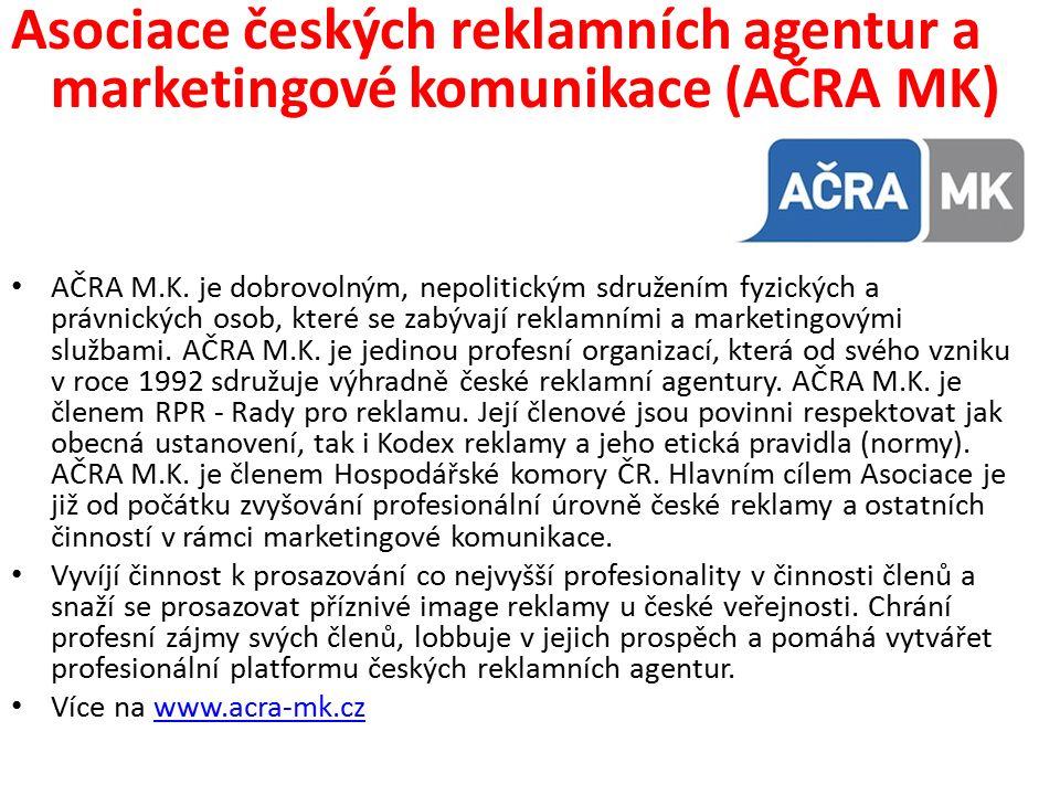 Asociace českých reklamních agentur a marketingové komunikace (AČRA MK) AČRA M.K.