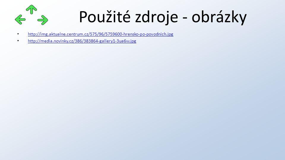 Použité zdroje - obrázky http://img.aktualne.centrum.cz/575/96/5759600-hrensko-po-povodnich.jpg http://media.novinky.cz/386/383864-gallery1-3ua6w.jpg