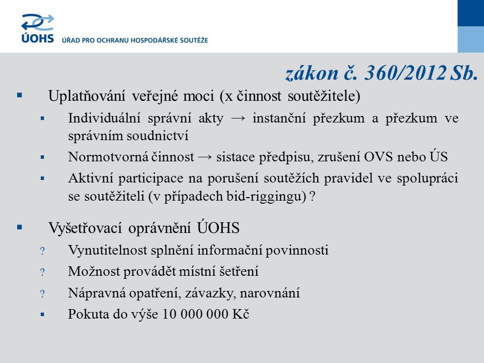 zákon č. 360/2012 Sb.