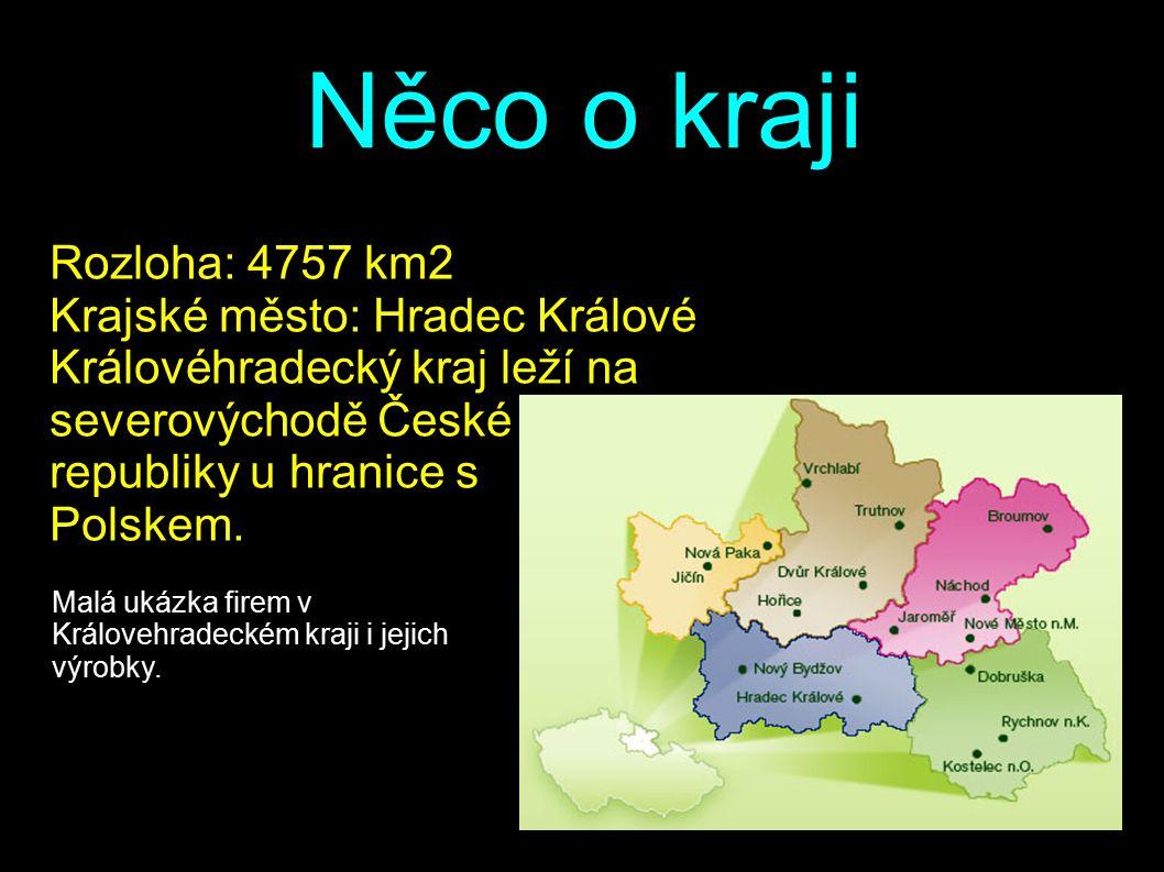 Něco o kraji Rozloha: 4757 km2 Krajské město: Hradec Králové Královéhradecký kraj leží na severovýchodě České republiky u hranice s Polskem.