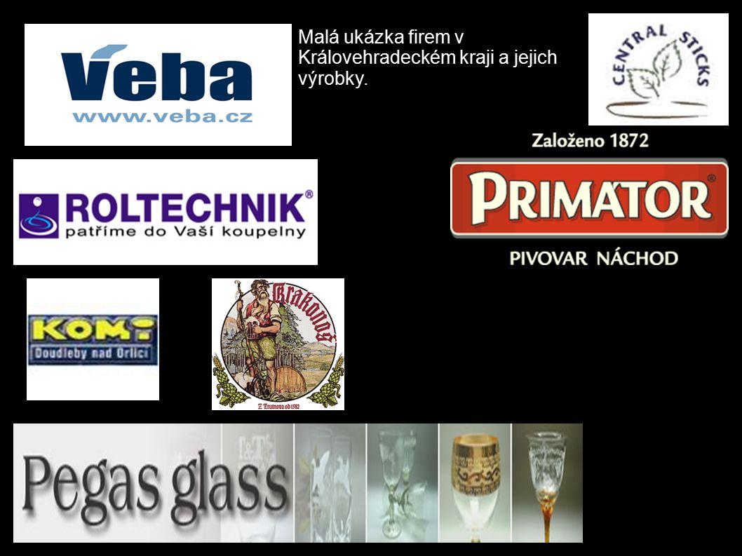 Malá ukázka firem v Královehradeckém kraji a jejich výrobky.