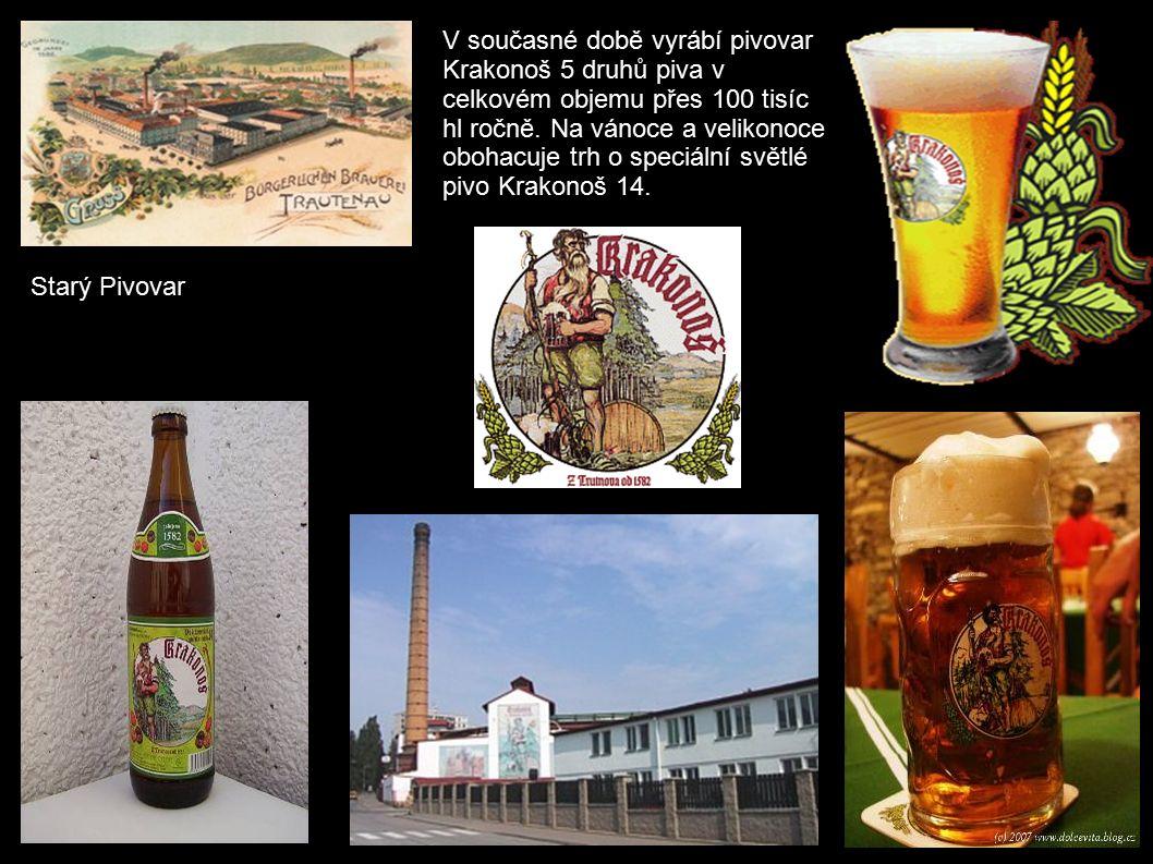 V současné době vyrábí pivovar Krakonoš 5 druhů piva v celkovém objemu přes 100 tisíc hl ročně.