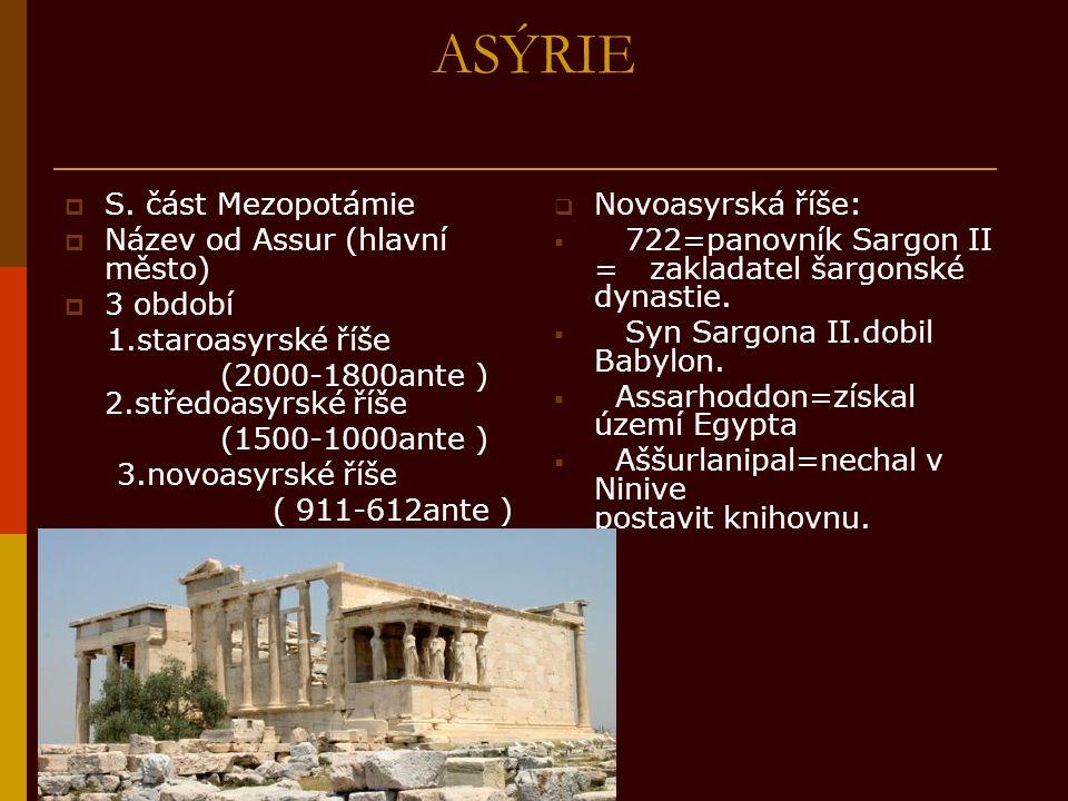 Babylonie  J.část Mezopotámie  3 období: 1.starobabylonské období ( 19-16 stol.