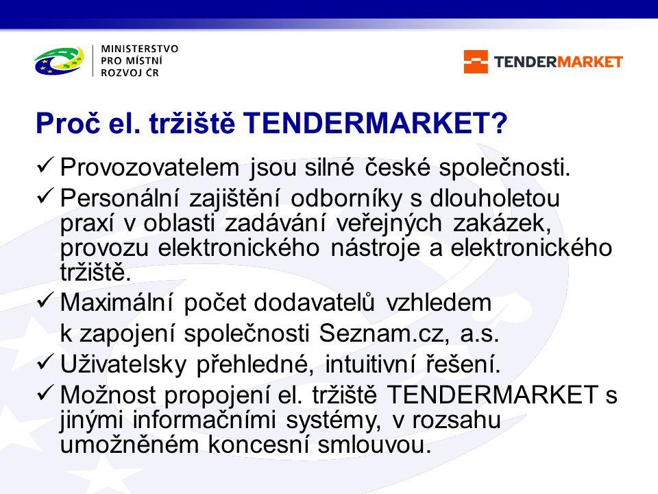 Provozovatelem jsou silné české společnosti. Personální zajištění odborníky s dlouholetou praxí v oblasti zadávání veřejných zakázek, provozu elektron