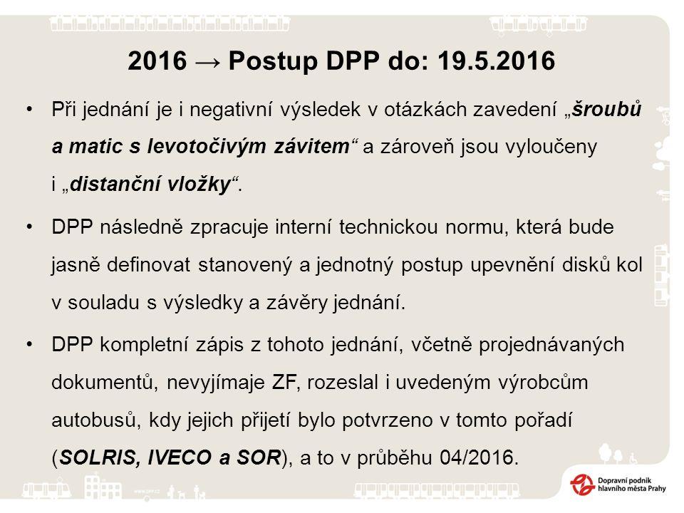 2016 → Postup DPP do: 19.5.2016 DPP dne 4.2.2016 vyvolá oficiální jednání se zástupci ZF (Ing. Patera, p. Krajíček), za účelem nastavení jednotného po