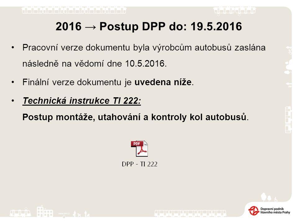 2016 → Postup DPP do: 19.5.2016 Při jednání DPP se ZF bylo dohodnuto, že DPP bude na SDP – OSA 19.5.2016 prezentovat postupy od minulého jednání až do