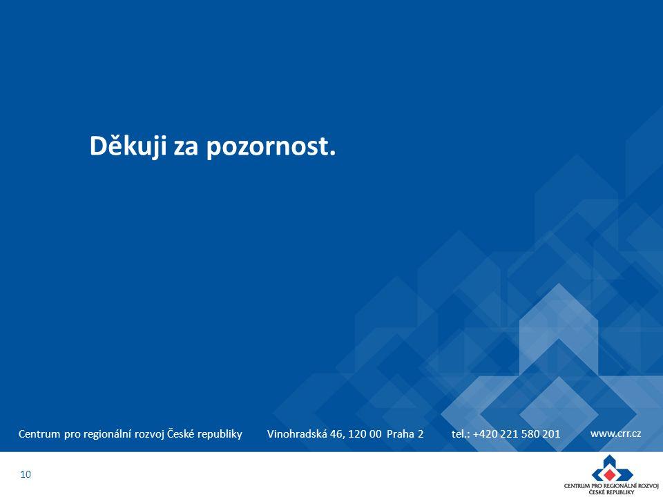 Vinohradská 46, 120 00 Praha 2tel.: +420 221 580 201 www.crr.cz Děkuji za pozornost. 10