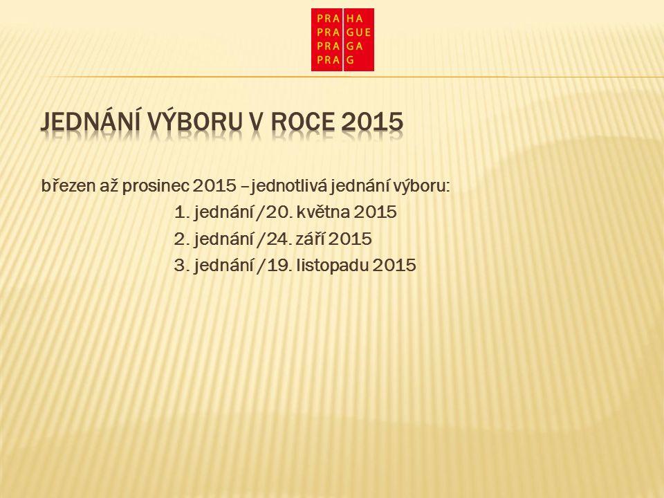 březen až prosinec 2015 –jednotlivá jednání výboru: 1.