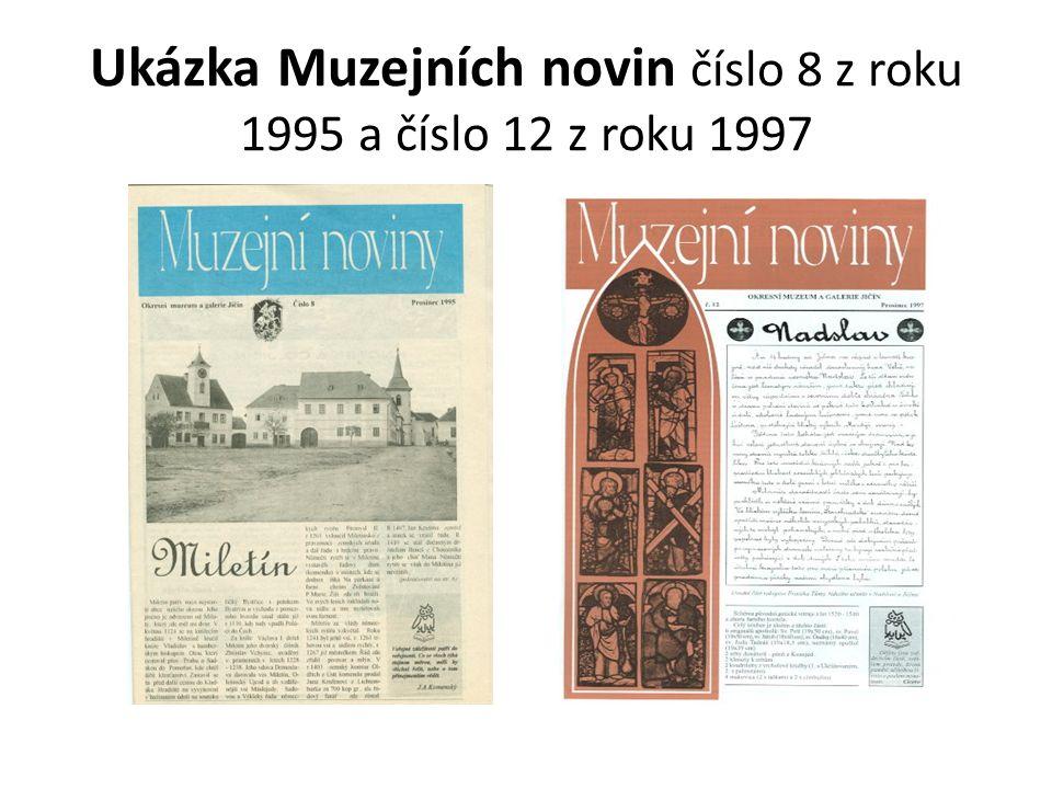 Ukázka Muzejních novin číslo 8 z roku 1995 a číslo 12 z roku 1997