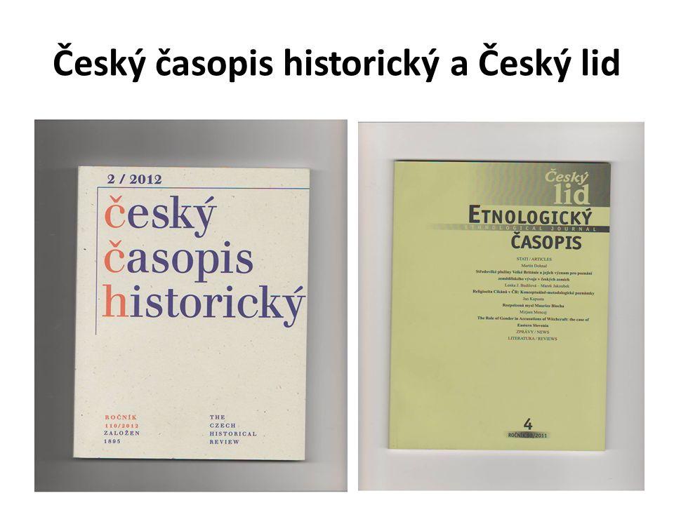 Český časopis historický a Český lid