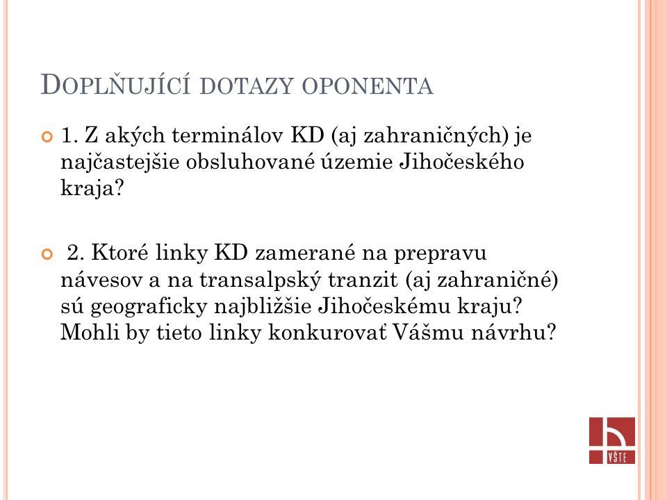 D OPLŇUJÍCÍ DOTAZY OPONENTA 1.