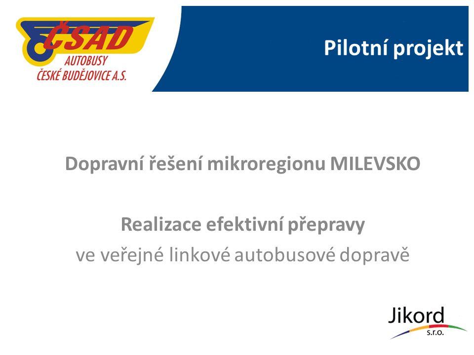 Pilotní projekt Dopravní řešení mikroregionu MILEVSKO Realizace efektivní přepravy ve veřejné linkové autobusové dopravě