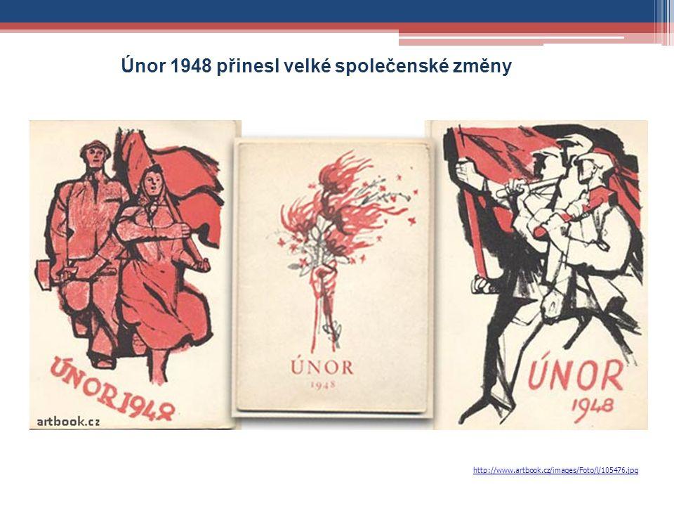 http://www.artbook.cz/images/Foto/l/105476.jpg Únor 1948 přinesl velké společenské změny