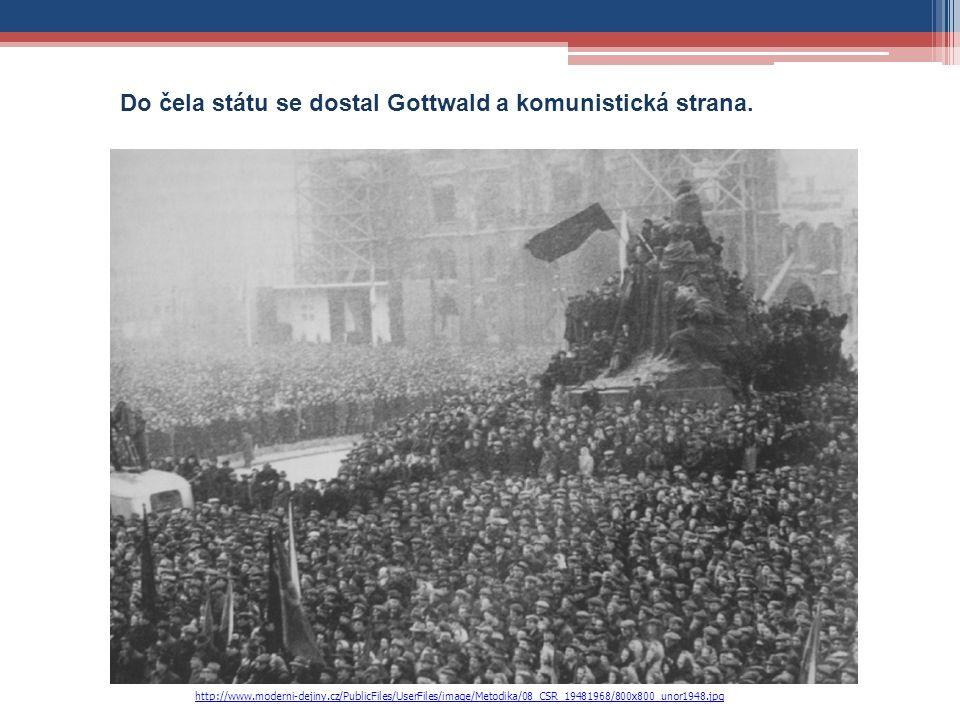 Do čela státu se dostal Gottwald a komunistická strana. http://www.moderni-dejiny.cz/PublicFiles/UserFiles/image/Metodika/08_CSR_19481968/800x800_unor