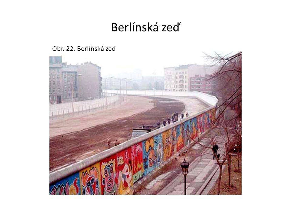 Berlínská zeď Obr. 22. Berlínská zeď